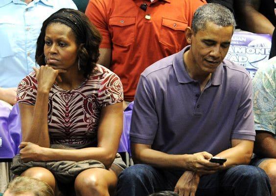 бывший президент США со своей женой