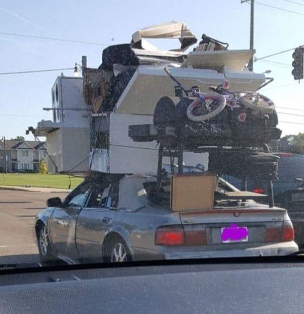 мебель на легковом авто