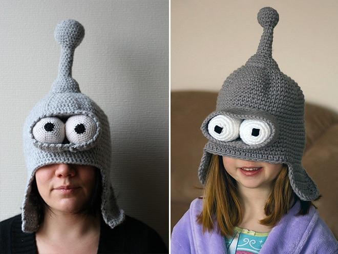 шапка в стиле футурамы