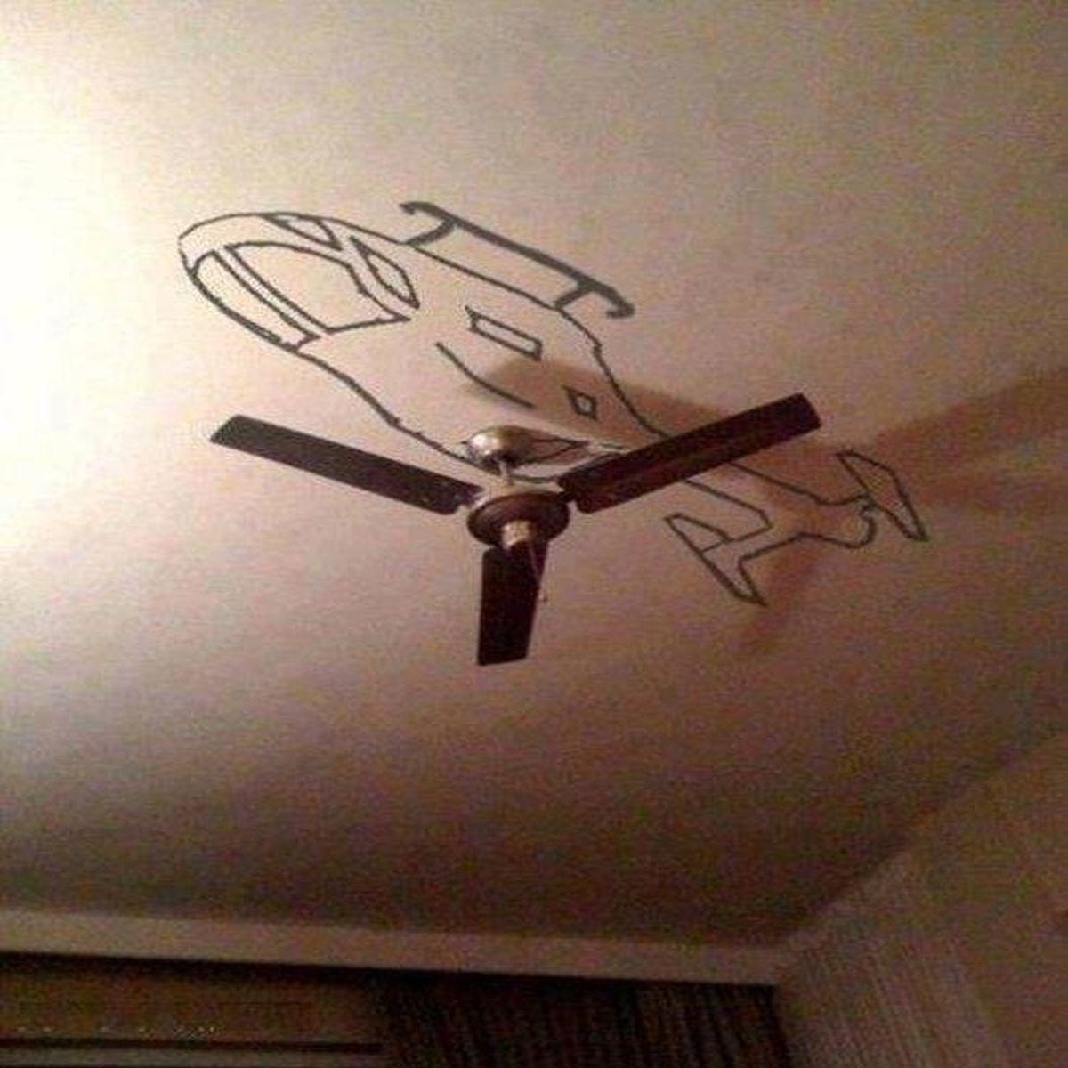 нарисованный вертолет