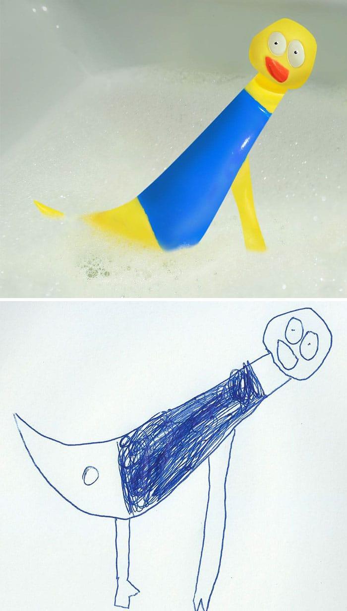 рисунок резиновой утки