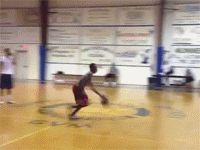 баскетболист с мячом
