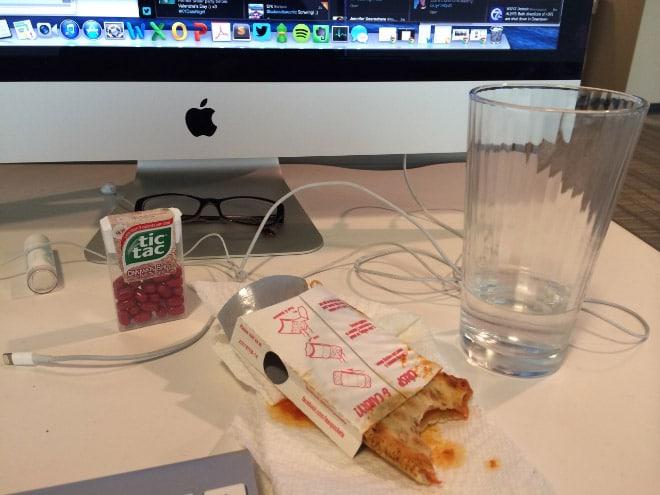 обед в офисе