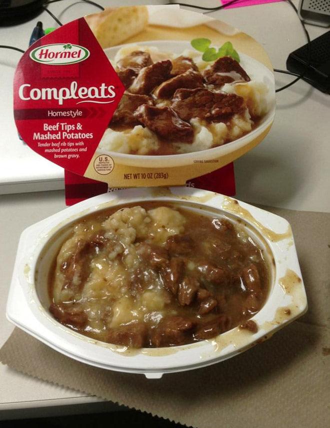 готовая еда в упаковке