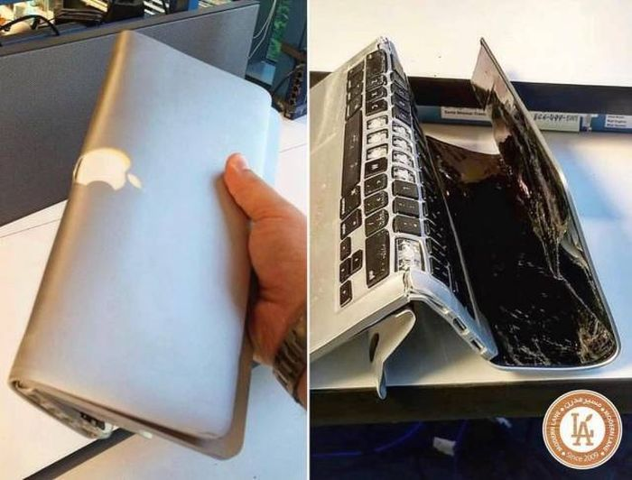 сломанный ноутбук