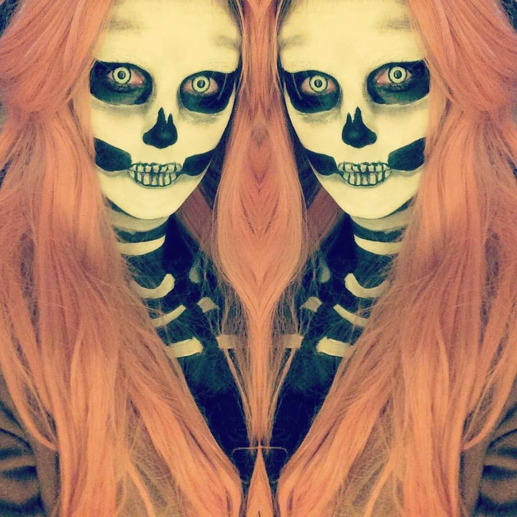 макияж под скелет