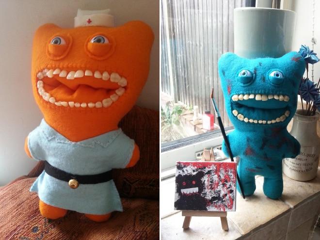 игрушечные монстры с зубами
