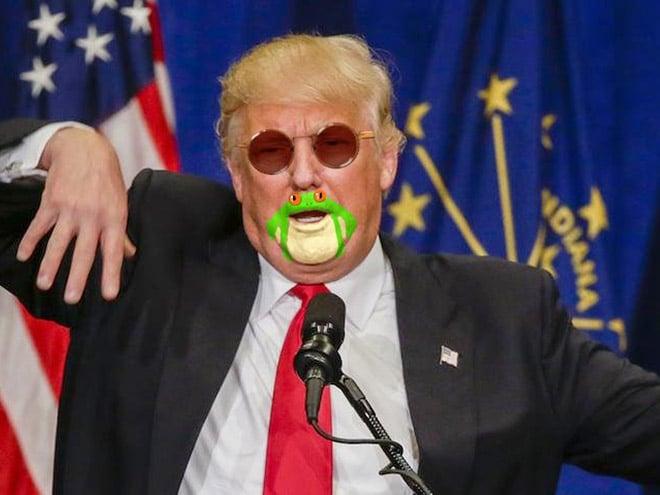 дональд трамп в солнцезащитных очках