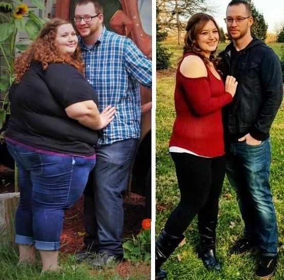 полные мужчина и женщина, худые мужчина и женщина