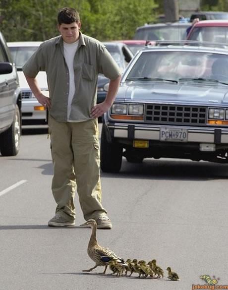 мужчина стоит на дороге