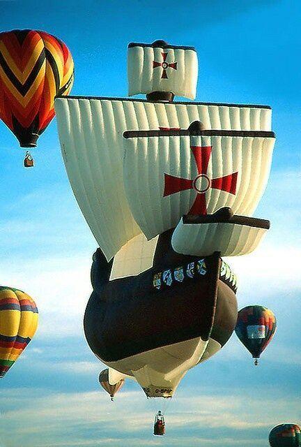 воздушный шар в виде корабля
