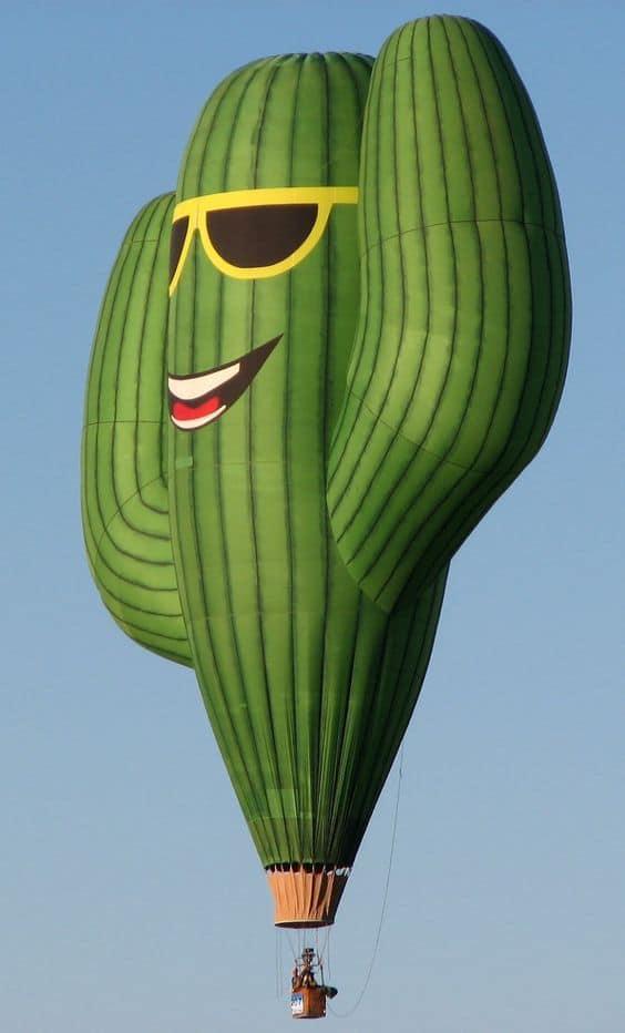 воздушный шар в виде кактуса