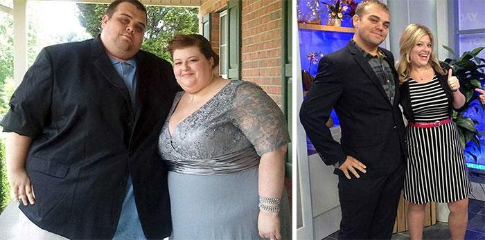 толстая пара и похудевшая пара