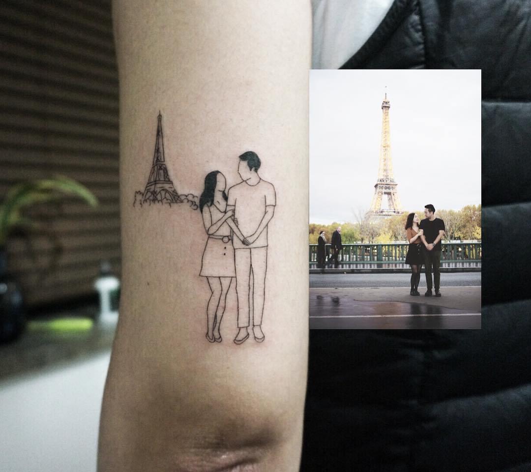 татуировка в виде пары