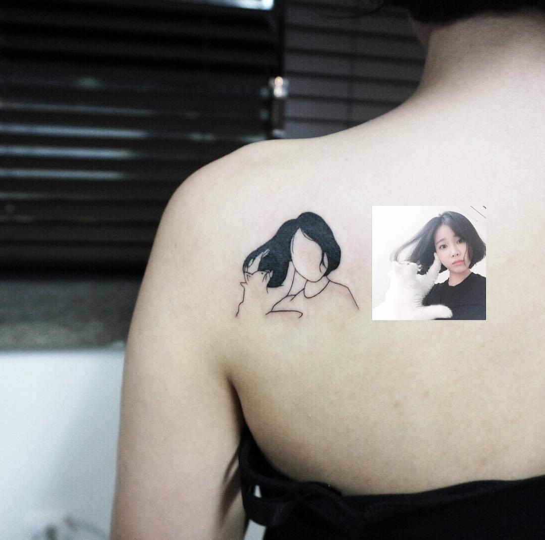 татуировка в виде девушки