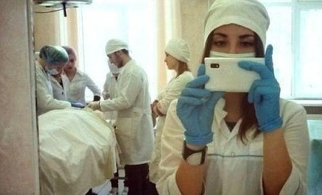 селфи медсестры