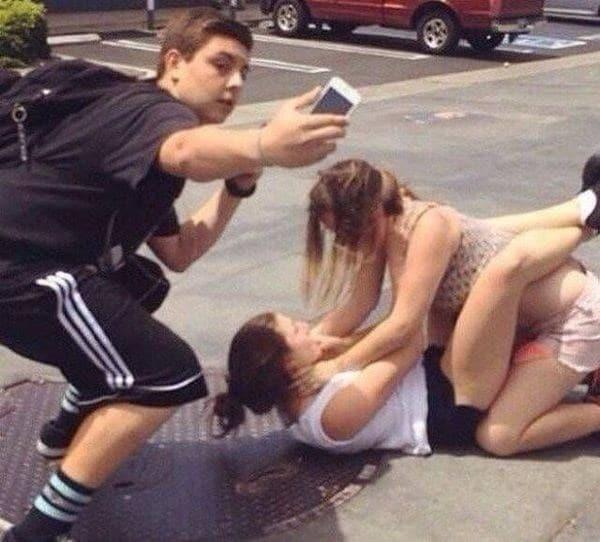 фотография женской драки