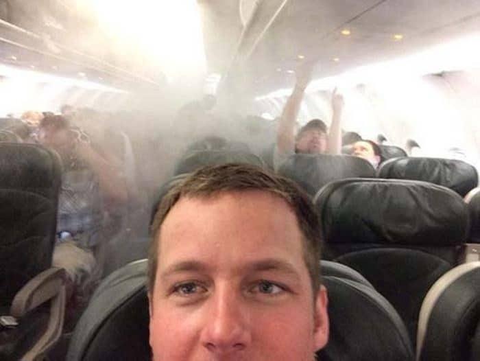 селфи в самолете