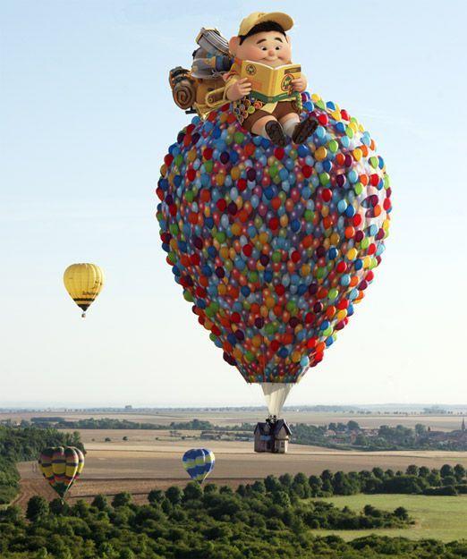 воздушный шар в виде героев мультфильма