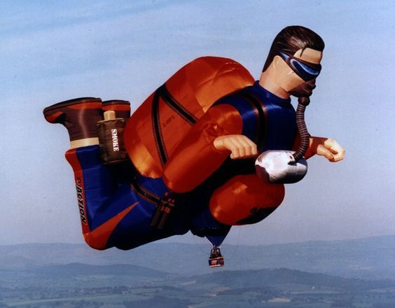 воздушный шар в виде парашютиста