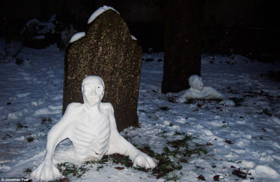снеговики у могил