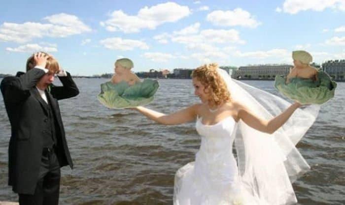 жених и невеста фотошоп