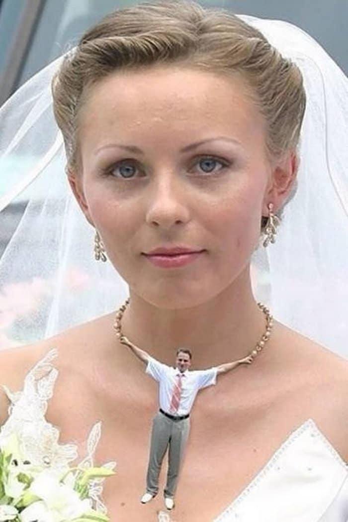 смешное фото невесты