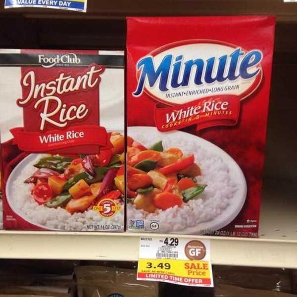 пачки с рисом