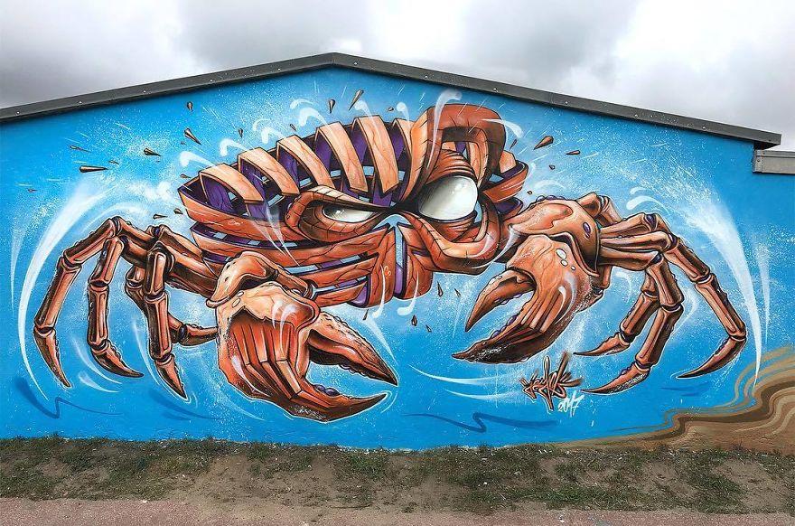 краб граффити