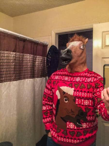 свитер с конём