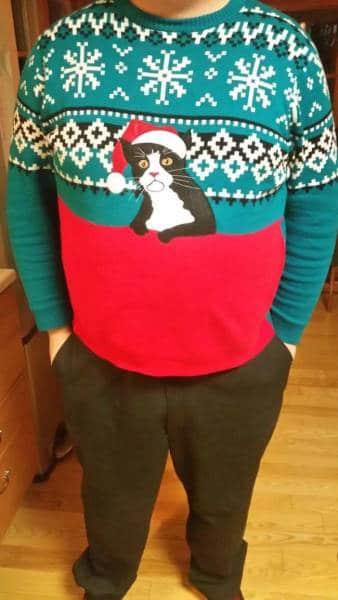 рождественский свитер с котом