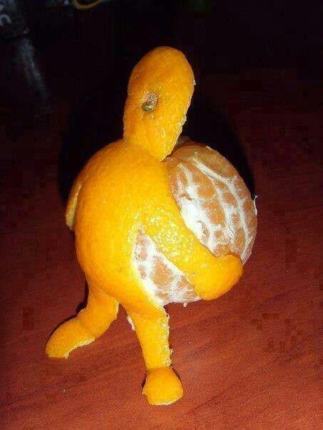 смешной апельсин
