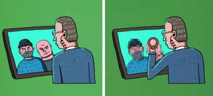 рисунок воров на мониторе