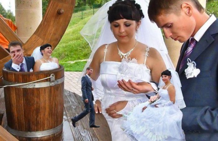невеста и жених фотошоп