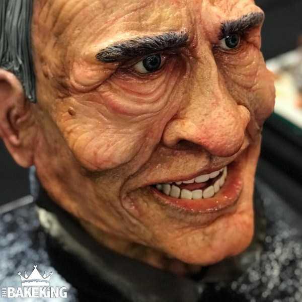 торт в виде пожилого мужчины