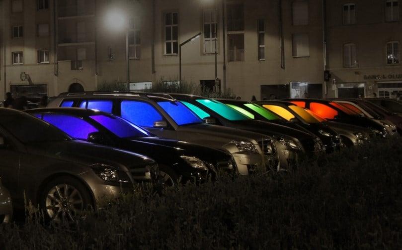 фонари из авто разноцветные