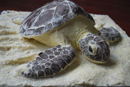 торт в виде черепахи