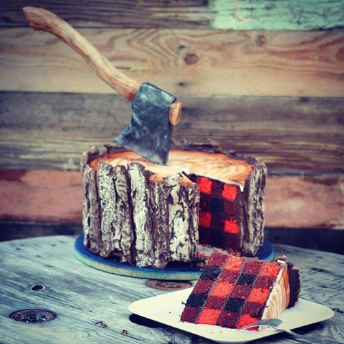 торт в форме полена