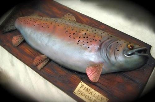 торт в виде рыбы