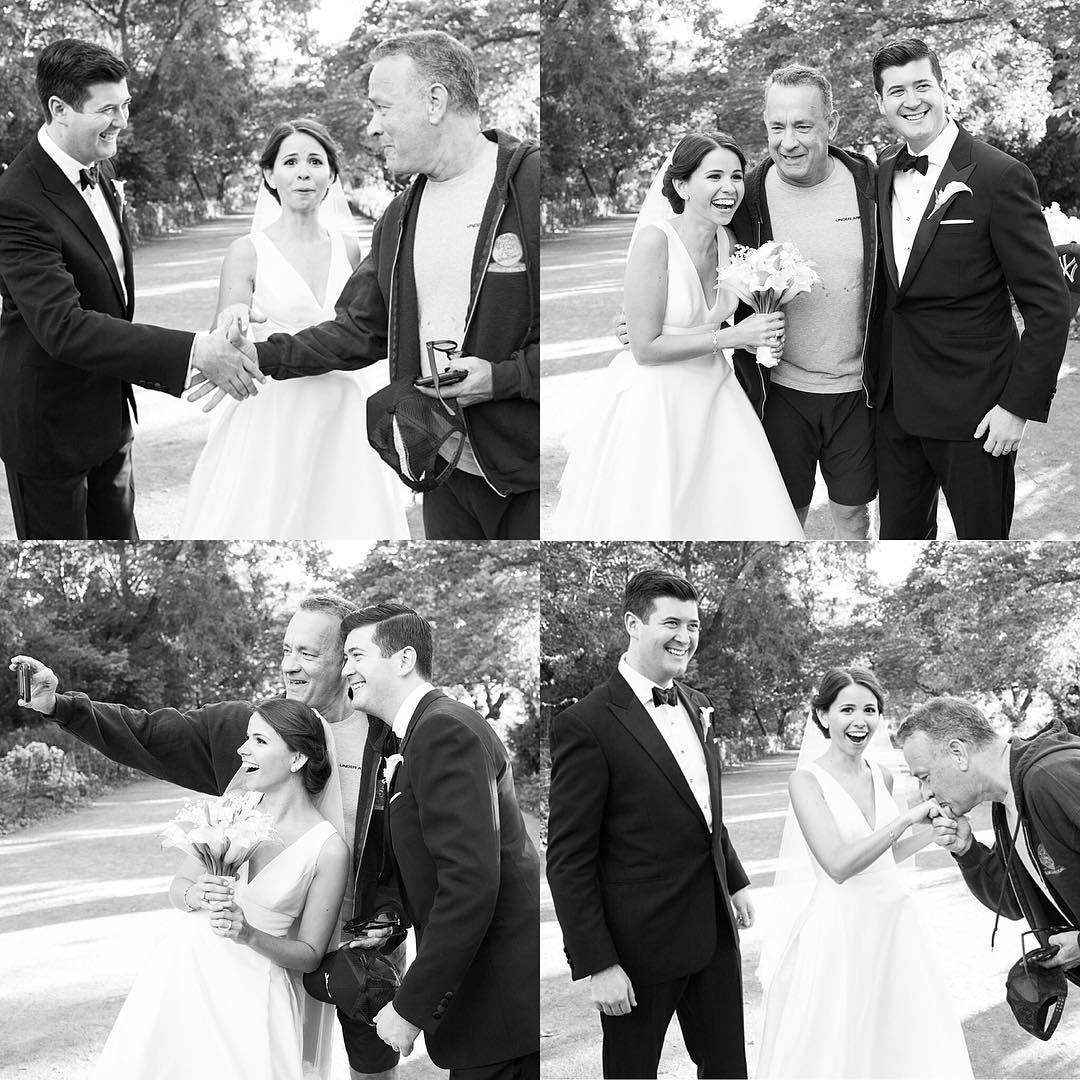 том хэнкс с женихом и невестой