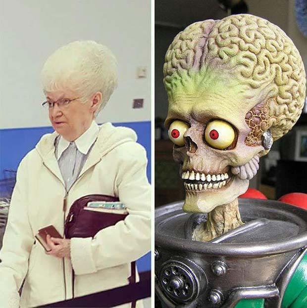 женщина и инопланетянин