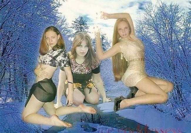 молодые девушки