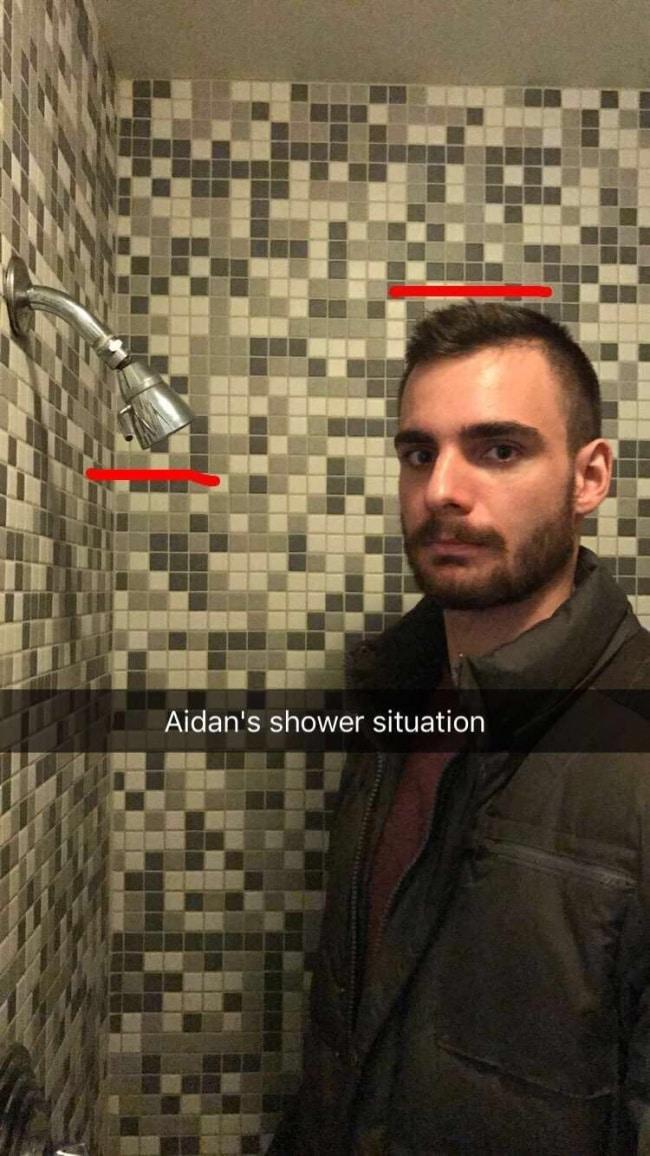 низкий душ