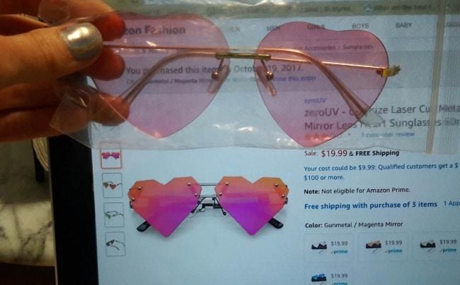 розовые очки