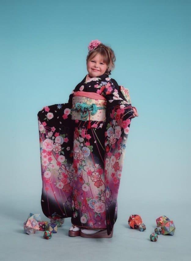 Девочка в образе японки