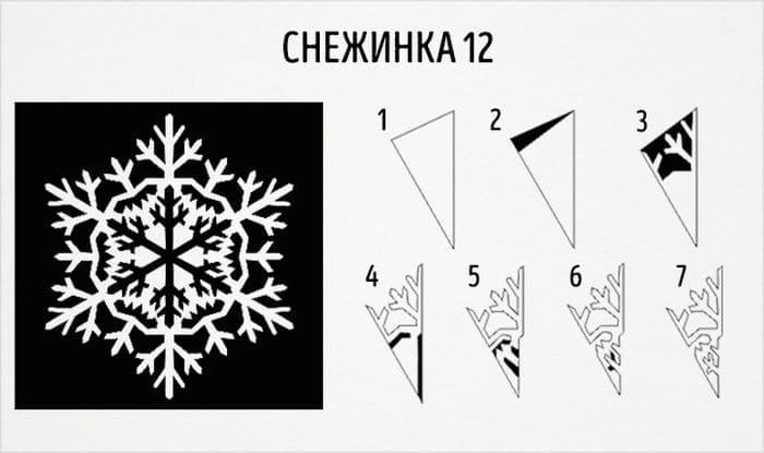 креативные снежинки
