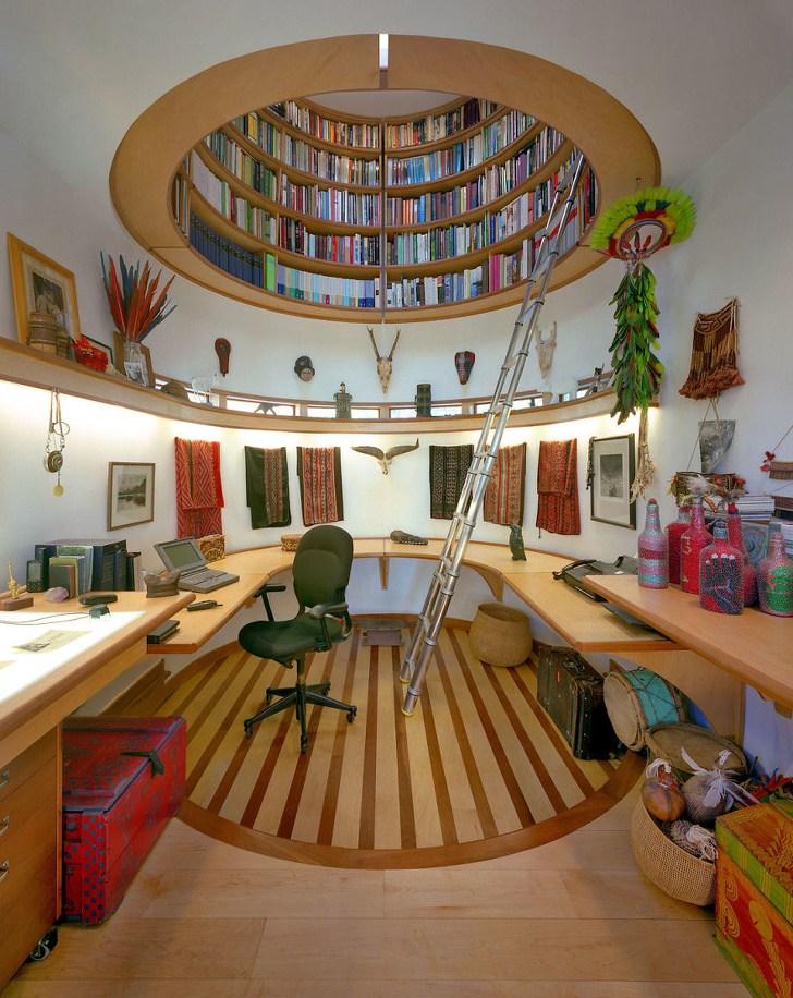 кабинет и библиотека
