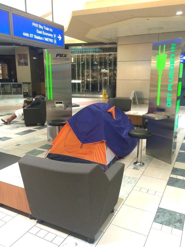 поставить палатку