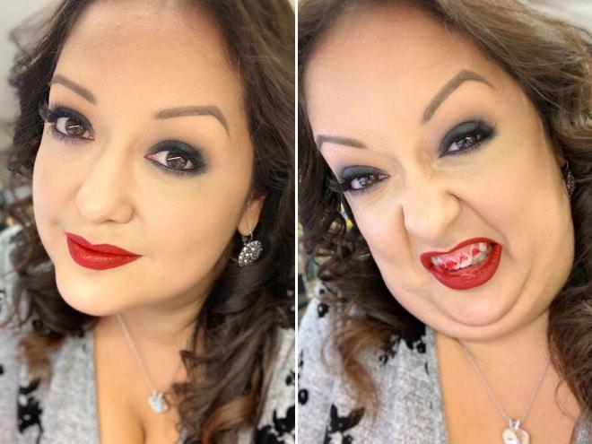 макияж женщины