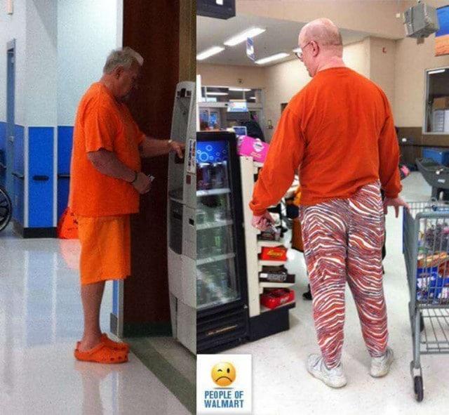 мужчины в оранжевой одежде